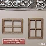 Ilyapa Window Frame Wall Decor 2 Pack - Rustic Wood