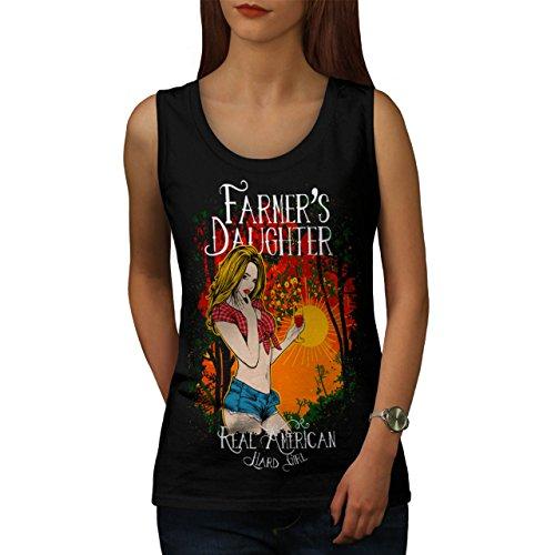 Farmer Daughter Cute Hard Girl Women NEW M Tank Top | Wellcoda (Daisy Duke Fancy Dress)