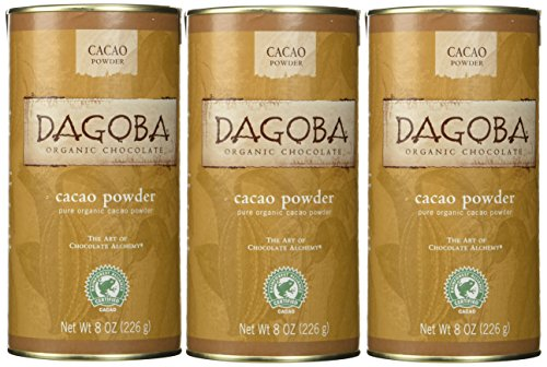 Dagoba Organic Chocolate Cacao Powder (Fair Trade Certified), 8-Ounce Canisters (Pack of 3) -