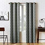 "Sun Zero Kenwood Chevron Blackout Grommet Curtain Panel, 40"" x 84"", Gray"