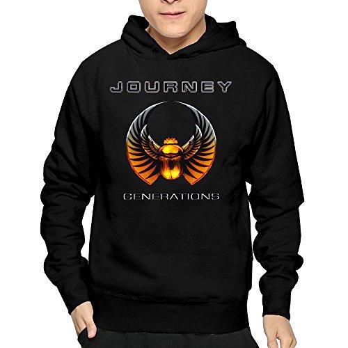 Mens Journey Rock Band Generation CoolHoodies Sweatshirt Lightweight (Karaoke Lights Journey)