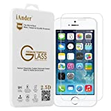 iPhone SE Screen Protector,iAnder Premium Tempered Glass Screen Protector for iPhone 5/5S/SE[0.3mm Ultra Thin 9H Hardness 2.5D Round Edge]