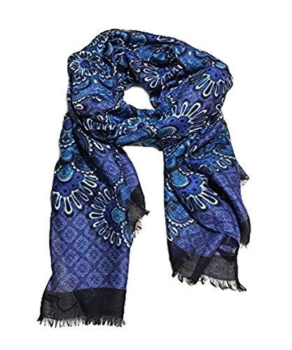 - Vera Bradley Womens Soft Fringe Scarf (Blue Tapestry)