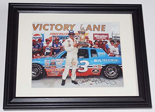 (Richard Petty Autographed Photo - 8x10 Color framed & Matted) - ! - Autographed NASCAR Photos)
