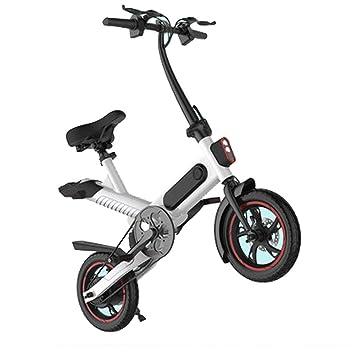 Adulto Bicicleta Eléctrica Plegable 12 Pulgadas, 36V (6Ah) Batería De Litio Aleación De