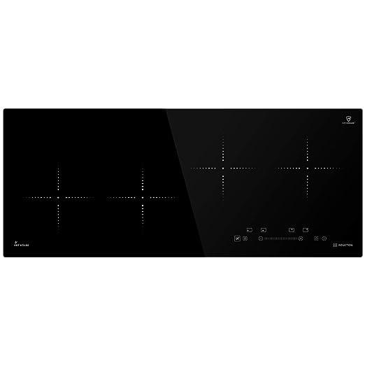 Placa de cocina por inducción 92cm (Autárquica, 7kW, 9 pasos ...
