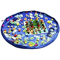 Funky Planet Bolsa de Almacenamiento de Juguetes para Lego, Bolsas de Organizador, Alfombra de Juego para niños de 60…