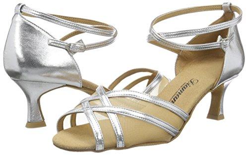 Salle 077 Diamant Chaussures Bal 013 035 Pour Silber silber Danse De Damen Tanzschuhe Femmes Latein FIqfqwPAp