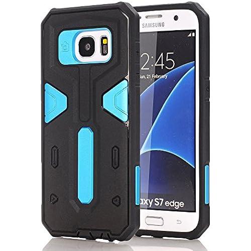 S7 Edge Case, Galaxy S7 Edge Cases, RIOGOO [Drop Protection] Hybrid Dual Layer Armor Defender Protective Case Cove for Samsung Galaxy S7 Edge Blue Sales