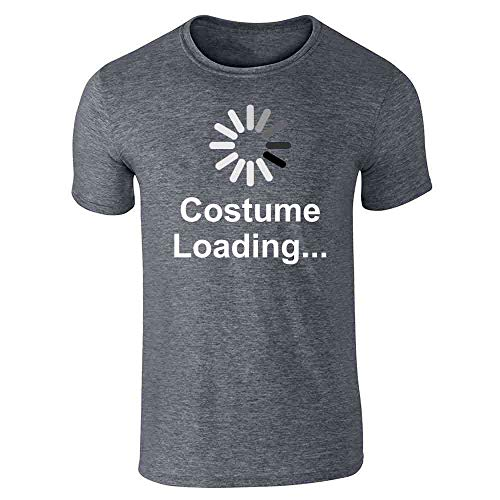 Pop Threads Costume Loading Funny Halloween Dark Heather Gray M Short Sleeve T-Shirt