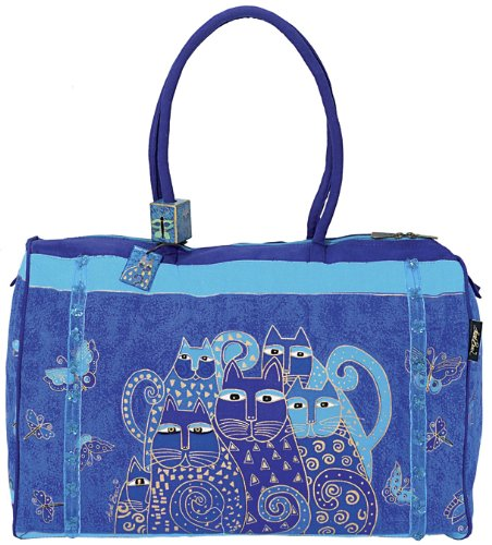 Laurel Burch LB414 Travel Bag, Indigo Cats