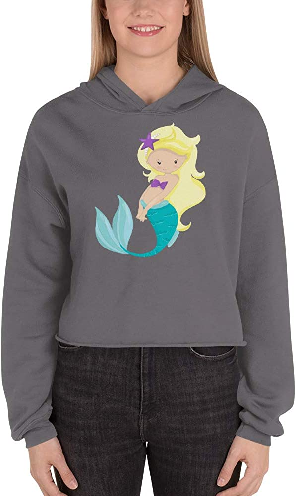Cute Mermaid Crop Hoodie