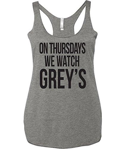 On Thursday We Watch Grey's | Anatomy | Meridith- Tank Top- Grey- Medium