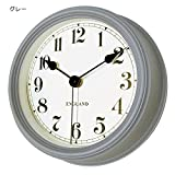 Carnac Antique flavor wall clock United Clock (No tick-tock sound) CR-PL03 Grey from Japan
