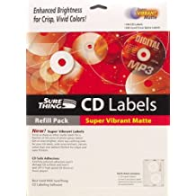 MicroVision SureThing i073731 Premium CD Labels (Matte, 100-Count) (Discontinued by Manufacturer)