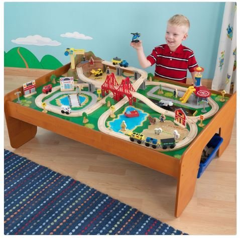 kidkraft-ride-around-town-train-table-set