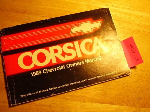 1989 Chevrolet Corsica Owners Manual