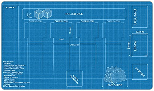 Blueprint Destiny Playmat by Inked Gaming / Inked Playmats / Perfect for Star Wars Destiny SWD TCG Game - Usa Location Destiny