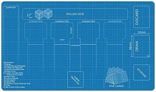 Blueprint Destiny Playmat by Inked Gaming / Inked Playmats / Perfect for Star Wars Destiny SWD TCG Game - Destiny Usa Location