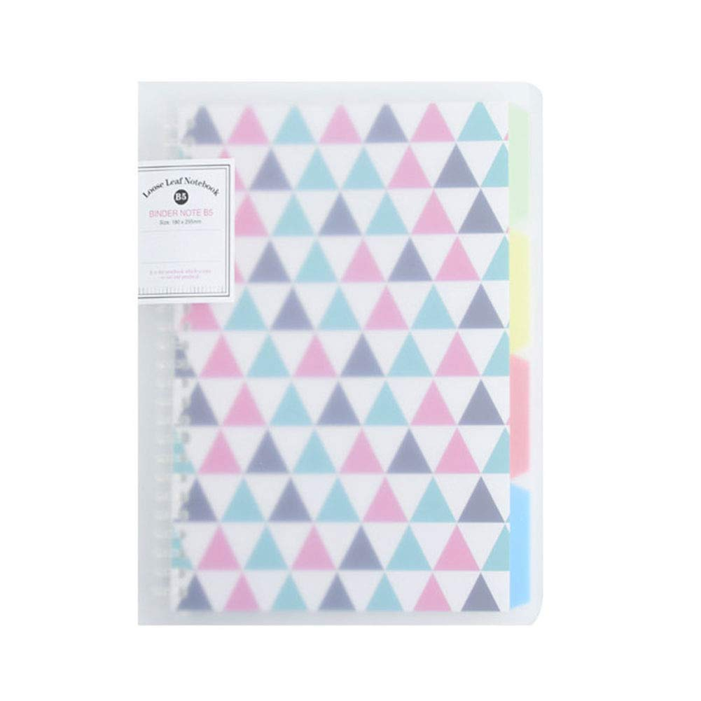 Hardcover Loose-Leaf Notebook A4 with Index Divider Tabs Detachable Diary Refillable Notepad Thick Quality Paper Record Book School Office Supplies Flamingo