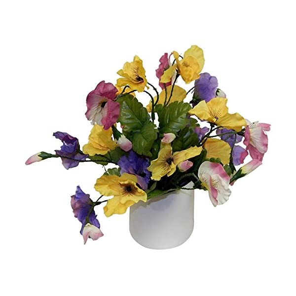Ella and Lulu Sweet Little Pansy Floral Arrangement, 10-in, Mixed