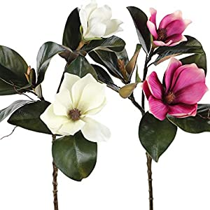 Rinlong Artificial Magnolia Silk Flowers 83