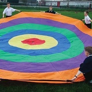 Telone con bersaglio per giochi/attività di gruppo divertenti per bambini (diametro: 3,5-6 m)