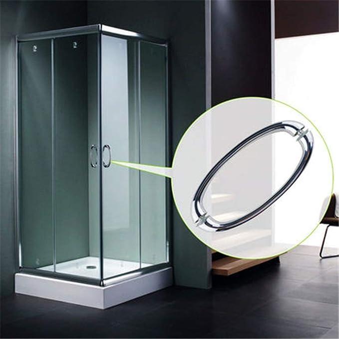 Pomos de las puertas Cuarto de baño puerta corredera de cristal manija de la puerta deslizante de la manija de la puerta de la ducha Distancia del agujero 145MM 1 Conjunto de