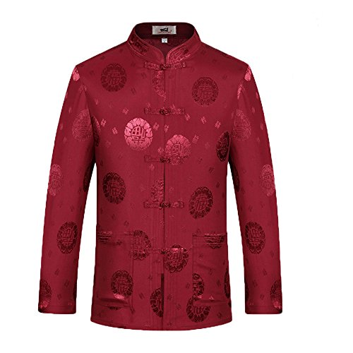 c0fda81d5 Tang Suit Man Traditional Chinese Clothing Suits Hanfu Spring festival  gifts Uniform Cotton Long Sleeve (