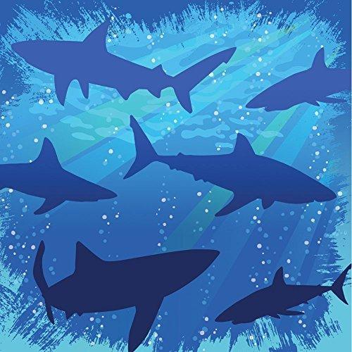 Creative Converting Shark Splash 3-Ply Beverage Napkins (48-Pack) by Creative Converting