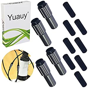 Yuauy 4 PCs Ti Mini Inline Bicycle Cable Adjusters w/End Caps