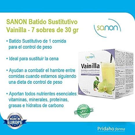 SANON - SANON Batido Sustitutivo Sabor Vainilla 7 sobres de 30 gr