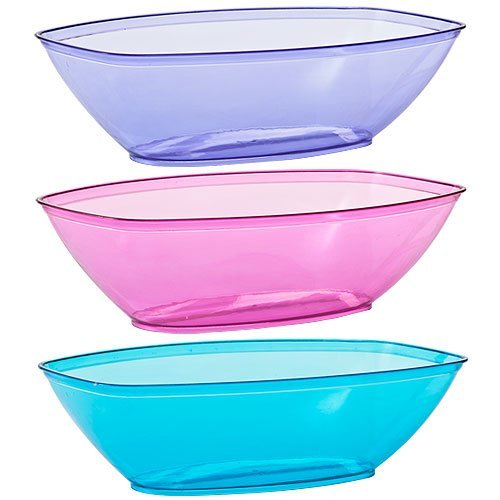 Set Plastic Serving Assorted Colors