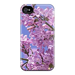 New ZhiqiangYao Super Strong Beautiful Violet Flowers Cases Covers For Iphone 6