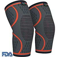 Modvel Ultra Flexible Compression Knee Sleeve (Pair) (S/M/L/XL) (Orange)