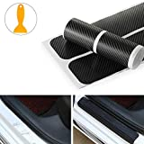 4pcs Carbon Fiber Anti Scratch Car Door Sill Sticker Anti-Scuff Plate Cover Panel Step Protector Car Door Edge Protector