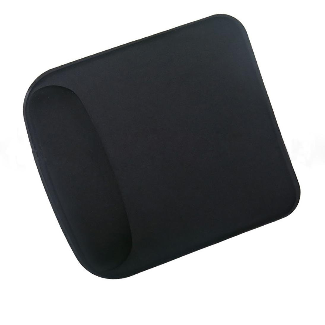 Coohole Gel Wrist Rest Support Game Mouse Mat Anti-slip Pad for Computer PC Laptop (Black 1, A)