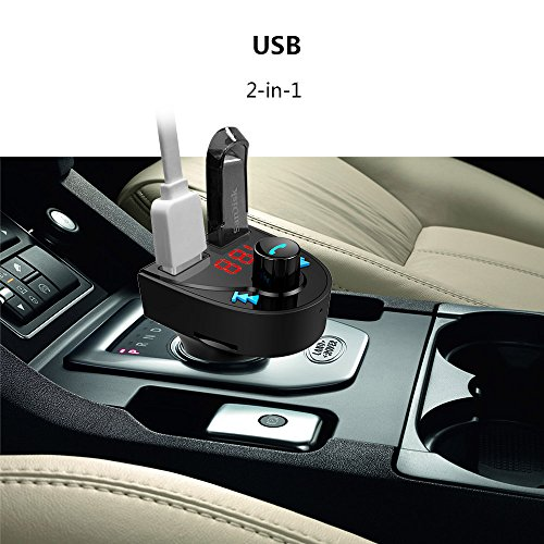 Bluetooth FM Transmitter for Car, Wireless Bluetooth FM Radio Adapter Car Kit with Hands-Free Callin - http://coolthings.us