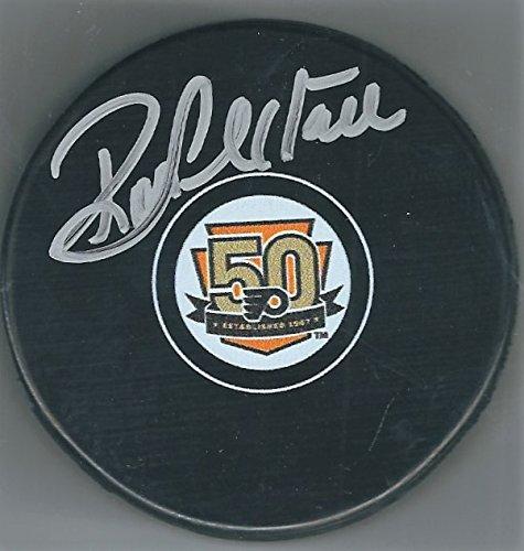 Autographed Ron Hextall Philadelphia Flyers 50th Anniversary Hockey Puck