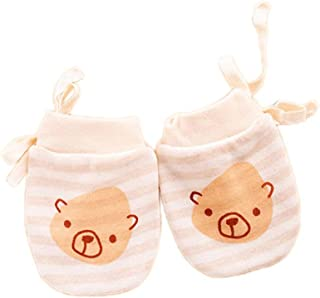 Vi.yo 1 Pairs Cartoon Baby Scratch Mittens Boys Gitls Anti Scratch Drawstring Gloves Soft Newborn Gloves Gift