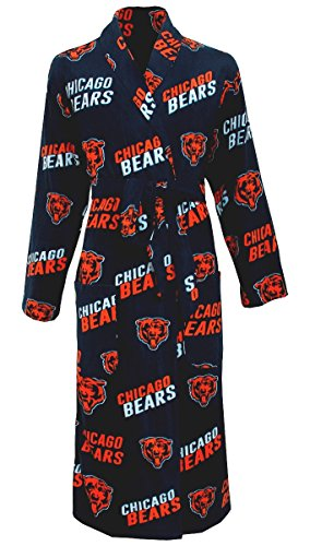 Concept Sports Men' s NFL Football Team  Wildcard Robe - Chicago Bears- One - Chicago Robe