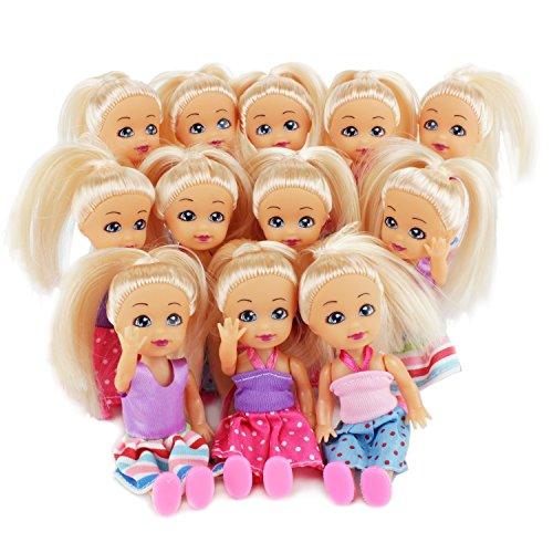 Boley 12 Pack Forever Fashionistas Toy Doll Set - Girls Dolls Figurines Box with Unique Outfits, Apparel - Additional Hair Accessories Included - Great for Stocking Stuffers, Birthday Parties