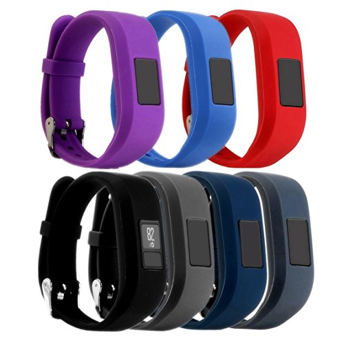 For Garmin Vivofit 3 and Vivofit JR, Dunfire Colorful Accessory Band/ Wristbands With Secure Watch-style Clasp For Garmin Vivofit 3 and Vivofit JR (7PCS - - With Shipping Usps Options Tracking