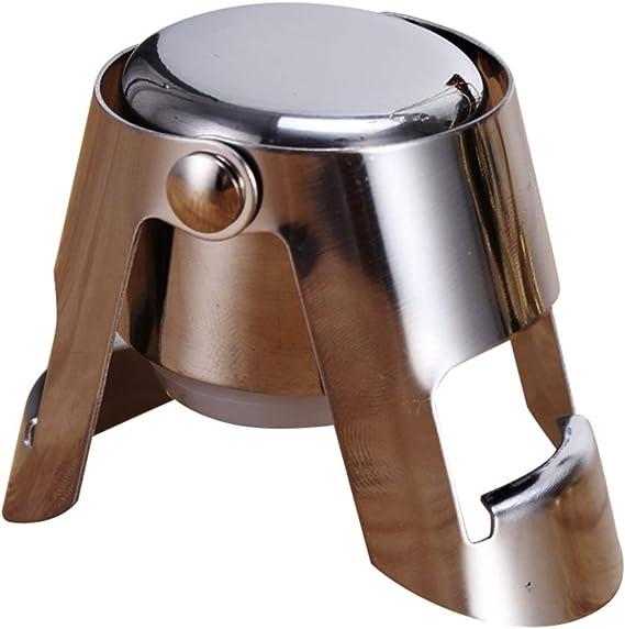 Firiodr Stainless Steel Champagne Wine Bottle Stopper Portable Sealer Bar Stopper Wine Sparkling Cap Duel Ears