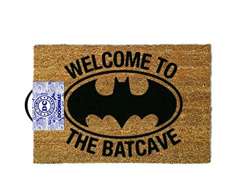 1art1 Batman Door Mat Floor Mat - Welcome to The Batcave (24 x 16 inches) -