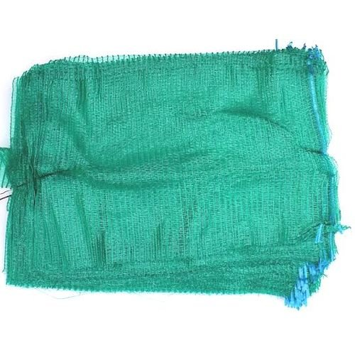 100 Green Net Sacks 30cm x 50cm with Drawstring Raschel Bags Mesh Vegetables Logs Kindling Wood Netbags Automotive World