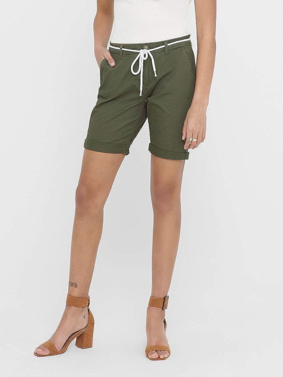 ONLY Damen Shorts ONLParis Reg Long Belt Chino
