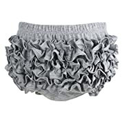 Wennikids Baby Girl's Cotton Shorts and Diaper Cover Bloomers Small Gray