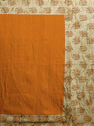 Art Des Femmes De Soie Sari Imprimé Tissu Blouse Décousus Mirchi Mode Vêtements Indiens (en Option Couleur 5285_with) De Moutarde, Beige