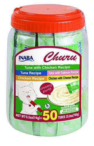 INABA Churu 50 Tubes Tuna & Chicken Variety
